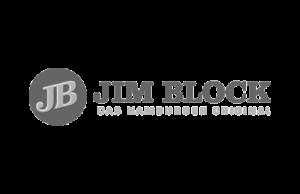 Logo JIM BLOCK - das hamburger Original